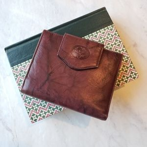 Vintage Burgundy Buxton Leather Billfold Wallet
